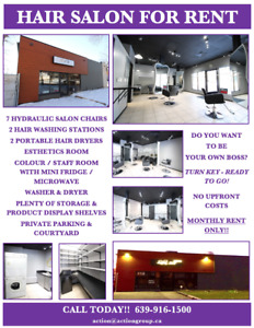 SALON FOR RENT...BE YOUR OWN BOSS!!