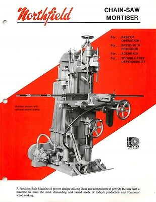 Northfield Chain Saw-mortiser Operation Manual  Parts List Pdf