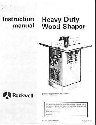 Delta Hd Wood Shaper Instructions Manual Parts List Pdf