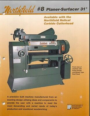 Northfield 8 Planer- Surfacer Manual Parts List Pdf