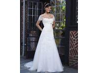 Stunning Designer wedding dress, ivory, size 14