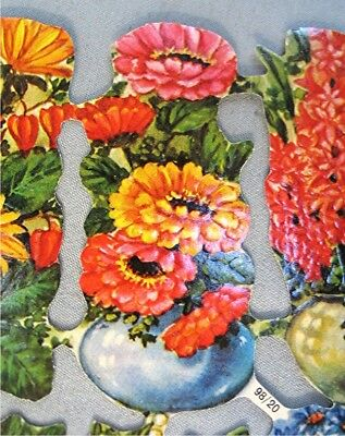Vintage Die Cut / Embossed Flowers -- Made by Kruger