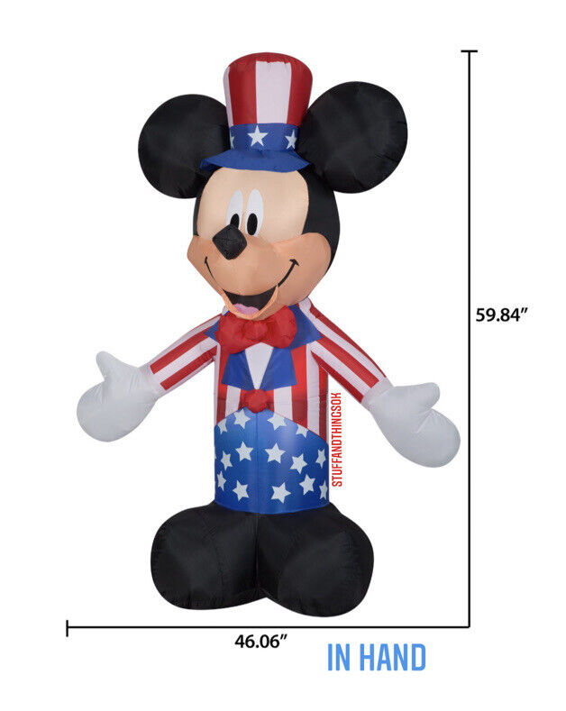 Disney Patriotic Mickey Mouse 4th of July Independence Day Airblown Inflatable