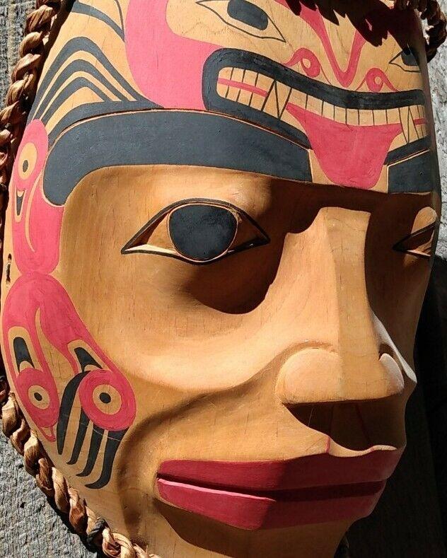 Northwest Coast Mask Haida Grizzly Bear Mask Native American Indian Wood Carving
