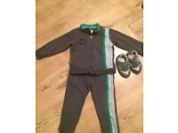 Boys armarni tracksuit age 3 years trainers size 5