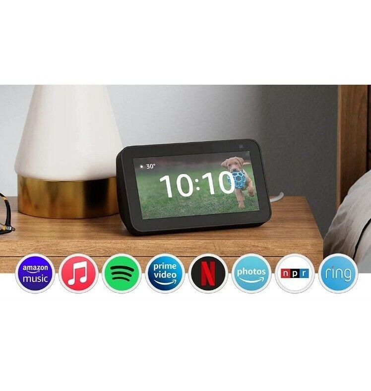 Amazon Echo Show 5 2nd Gen Smart Display Alexa   2021 Edition Charcoal