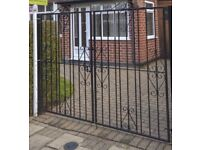"""5' 10"""" Wrought Iron Gates with posts"""