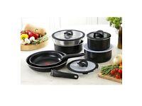 Tefal Ingenio 13 Piece Non-stick Saucepan Set - brand new boxed Black