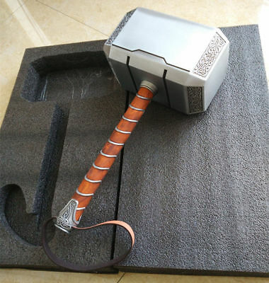 Thor Hammer Replica (USA Full Metal CATTOYS 1:1 The Avengers Thor Hammer Replica Props Mjolnir)