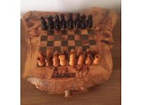 High Quality Wooden Chess Board - Handcrafted Egyptian Style