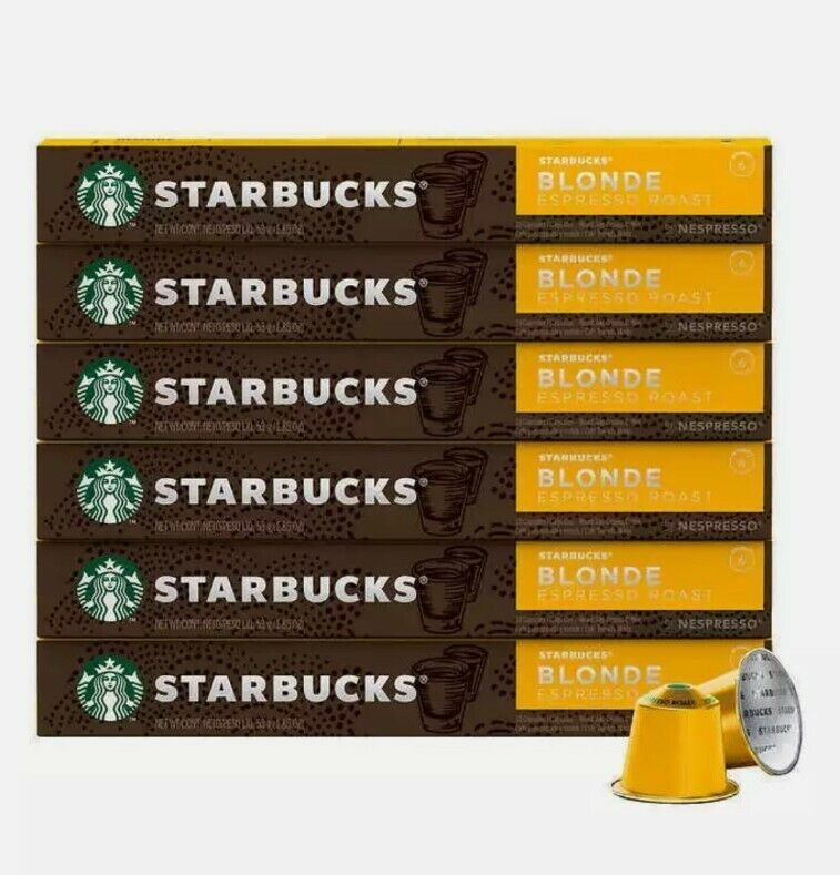 Starbucks Coffee Nespresso Capsules 60 Count Blonde Espresso Roast EX 5/30/21
