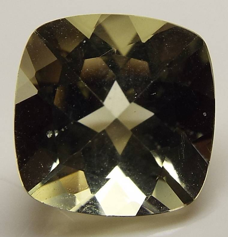 5.00 CT CUSHION CUT LOOSE FACETED NATURAL LT YELLOW CITRINE (GB1-34)