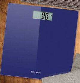 Blue Salter Ultra Slim Glass Electronic Digital Bathroom Scales
