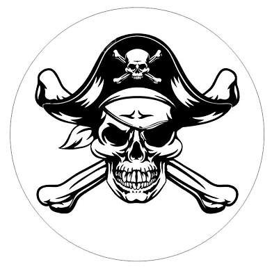 Pirate Skull Sticker Decal R6042 (Pirate Stickers)