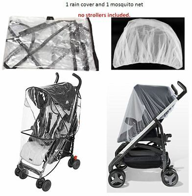 - Rain Cover Mosquito Net Set Cover Protector for Maclaren Child Kid Baby Stroller