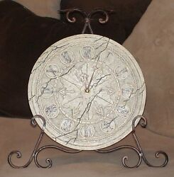 NWT Antique-Looking Clock with Wrought-Iron Stand!