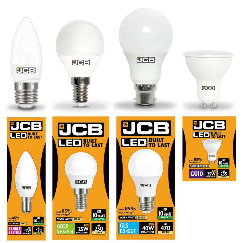 classe énergétique Bon état 10 x JCB DEL 10 W bouchon à vis GLS Daylight 6500K ES E27 Ampoule DEL