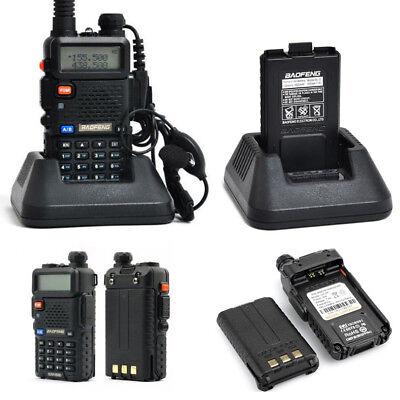 2 X BAOFENG UV-5R RICETRASMITTENTE VHF/UHF DUAL BAND RADIO 136-174 400-480MHZ t1