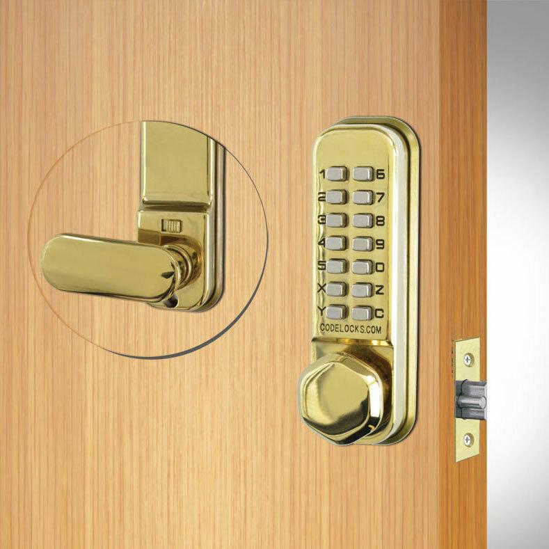 Codelocks CL255 Mortice Latch Brass (CL255-PB)