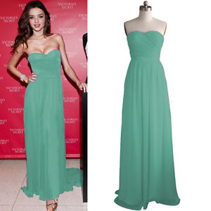 New Sexy Elegant Evening Ball Formal Prom Gown Strapless Chiffon Long Dress #145
