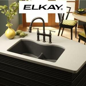 NEW* ELKAY PULL DOWN FAUCET LKEC2037AS 227118581 KITCHEN EXPLORE SOLID BRASS