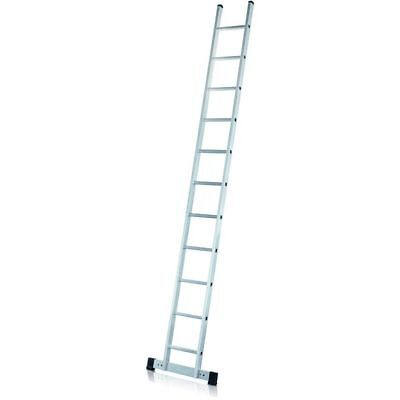 ZARGES Z 300 Aluminium Single Ladder with 14 rungs & Support Base 42514