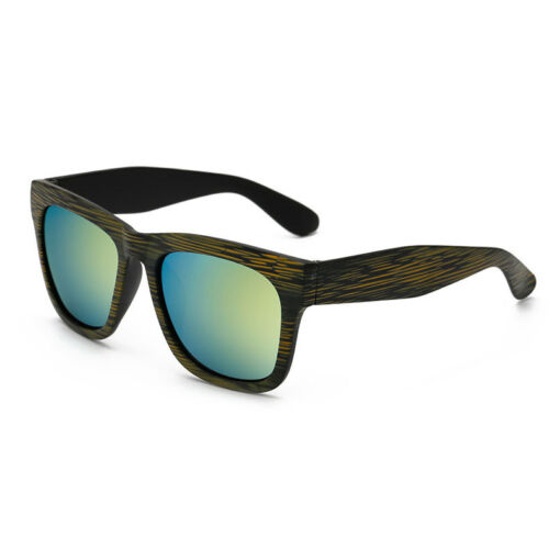 Fashion Bamboo Wood Print Sunglasses Mens Women Retro Mirror Eyewear Eye Glasses