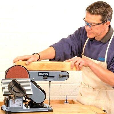 "DRAPER 100mm 4"" Belt & 150mm 6"" Disc Bench Mitre Sander Wood/Woodworking 53005"