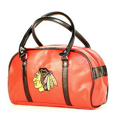 - CHICAGO BLACKHAWKS NHL LICENSED FASTLANE BAG PURSE HANDBAG Great Looking NEW