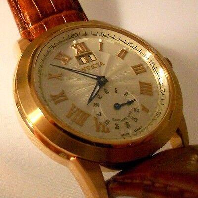 Mint Rare INVICTA 9978 Vinatge Roman Big Date French Ebauche Quartz Watch + Box