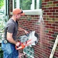 CUT OUTS FOR WINDOWS & DOORS - WALL, BRICK, STONE!