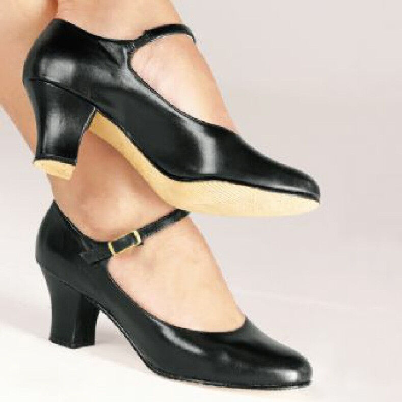 NEW CH 58 So Danca Leather Character Shoes Black, Tan