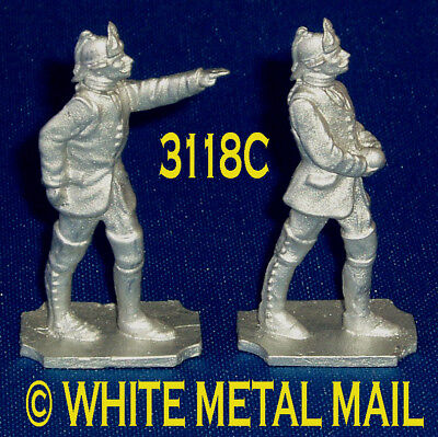 PRUSSIAN Artillery 40mm Casting Set 3118C 7 Years War Bombardier: Officer & Crew