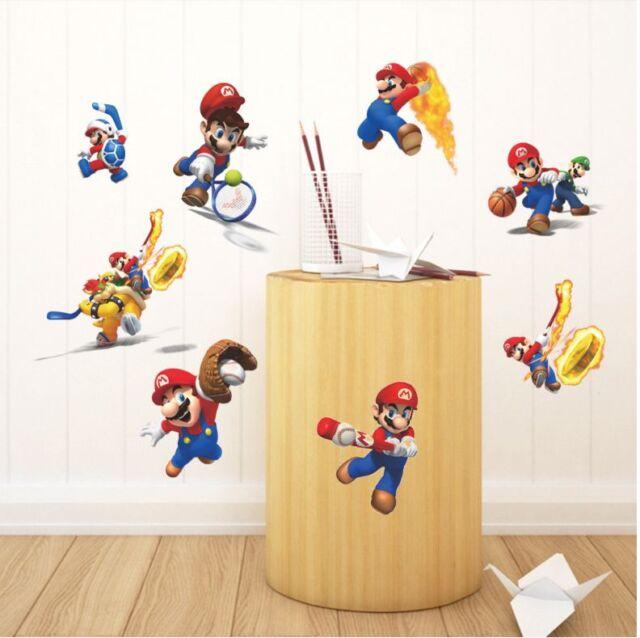 Games Super Mario Bros Vinyl Art Wall Stickers Decal Mural Kids ...