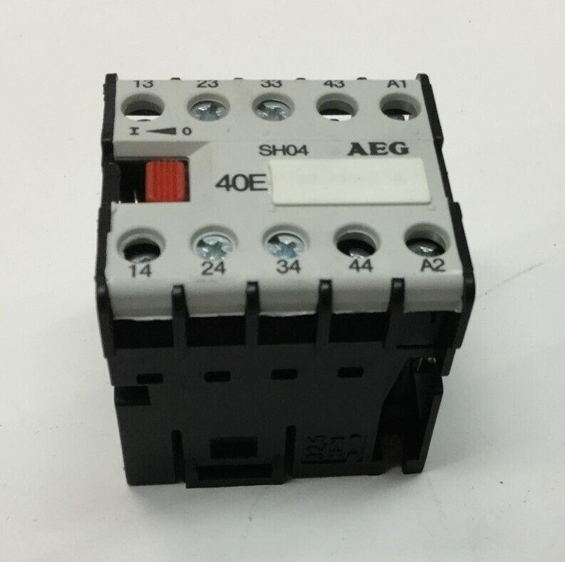 AEG SH04 40E Mini Contactor Relay 24VDC Coil, 600VAC 16A Max Rating, 16-12 AWG