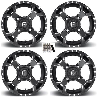 "Fuel Assault UTV Wheels Black 15"" Honda Pioneer"