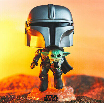 FUNKO POP! THE MANDALORIAN WITH THE CHILD #402~ MINT- Awesome Looking!