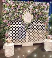 Flower wall backdrop FOR RENT $300