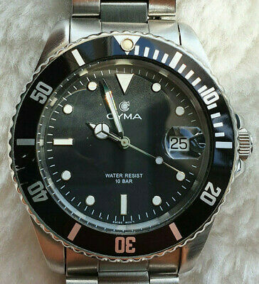 Cyma Quartz 100m Divers watch. Rotating bezel. Beautiful.