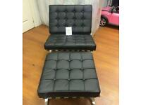 *reduced*Leather Barcelona chairs only 2 left reduced to £150 were £399