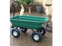 Garden Green 4 Wheel Tipping Trolley (New)