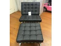 Leather Barcelona chairs on 2 left reduced to £199 were £399