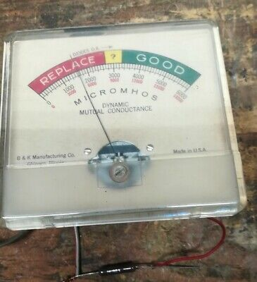 Tested See Pics Old Bk 500 And Others Gm Tube Tester Meter Only