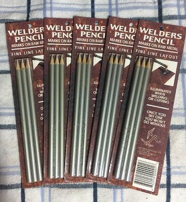 Silver Mine Welders Welding Pencils Lot Shop Supply Qty 15 5 Packs Of 3new