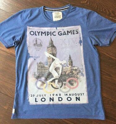 Next Olympic Games Print T-shirt Top Short Sleeve Cotton Size L- XL