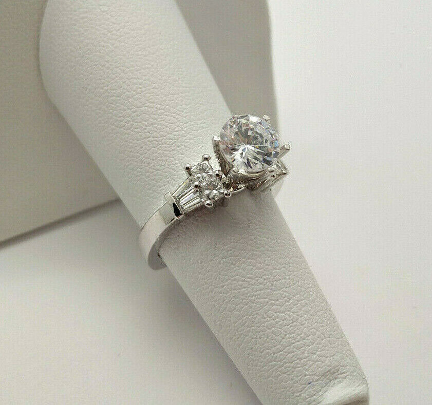 House of Baguettes NEW 14k White Gold .40ctw Diamonds Engage