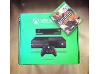 XBOX ONE 500GB , with box , 1 controller and 2 games