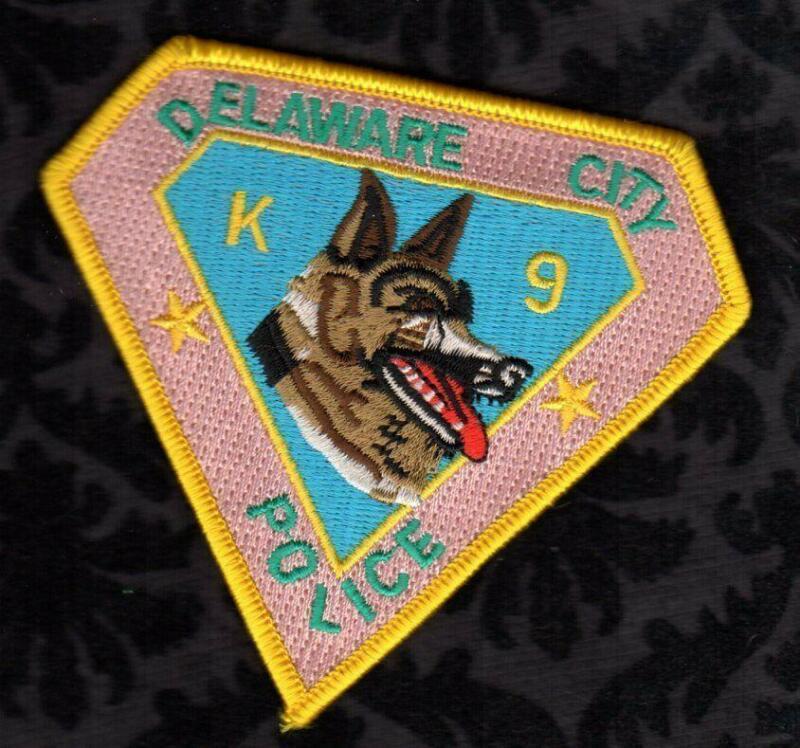 Delaware City Delaware Police K-9 K9 Patch