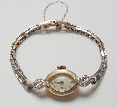 Vintage 17 Jewel LADIES BULOVA Wrist Watch - 14K Gold & 22 Diamonds - Appraised