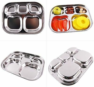 Diet Plate Diet Food Control Tray Stainless Steel Divided Portion Plate Korean